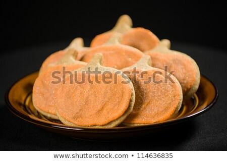 ストックフォト: 自家製 · クッキー · 孤立した · 黒 · 食品 · デザート