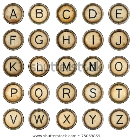 Retro schrijfmachine sleutels zwart wit kleuren Stockfoto © ABBPhoto