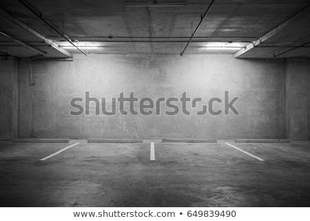 Parking garaż podziemnych wnętrza neon światła Zdjęcia stock © blasbike