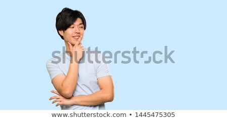 vista · lateral · casual · Asia · hombre · pie - foto stock © szefei