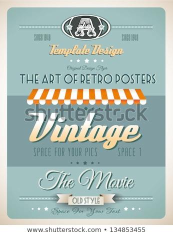 Vintage retro página modelo variedade site Foto stock © DavidArts