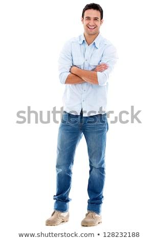красивый случайный человека Постоянный босиком модный Сток-фото © Discovod