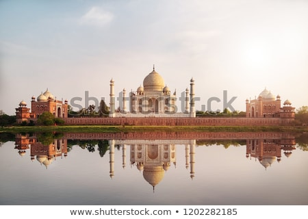 Taj Mahal seen from the River Stock photo © faabi