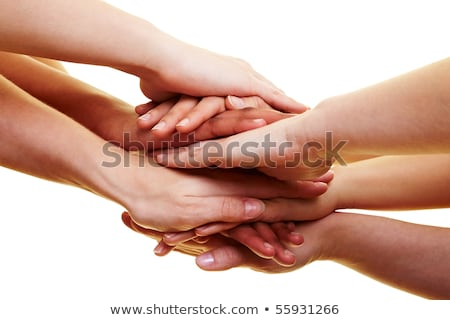 Many hands lying on top of each other Stock photo © oly5