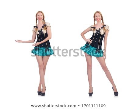 Vrouw kostuum voortvarend virtueel glimlach Stockfoto © Elnur