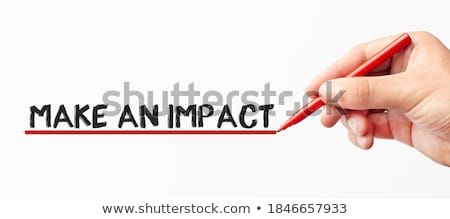 Impact Red Marker Stock photo © ivelin