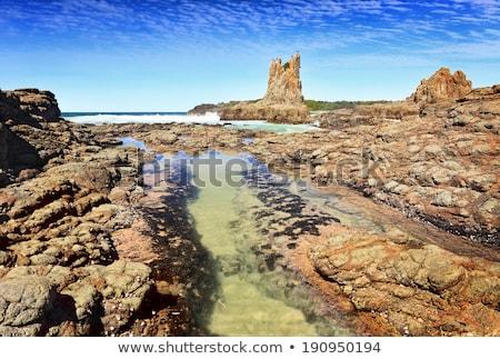 Foto stock: Catedral · rocas · Australia · aves · nubes · peces