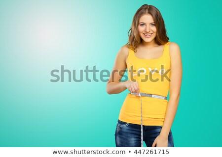 Esbelto encajar morena retrato súper jóvenes Foto stock © lithian