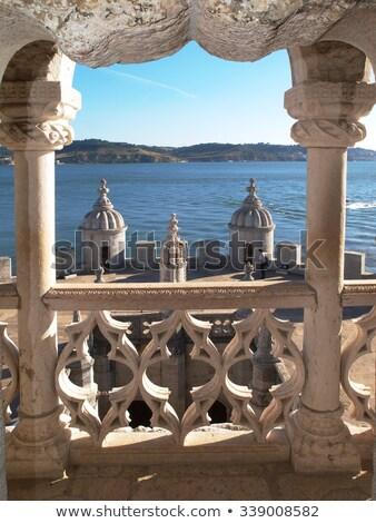 Torre balcón Lisboa Portugal edificio gótico Foto stock © rognar