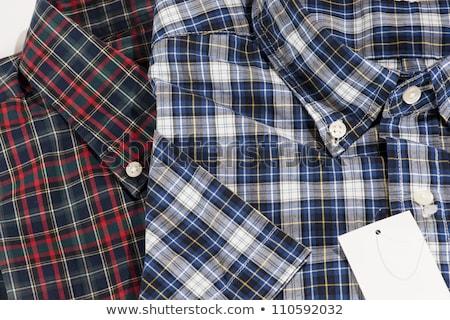 Casual shirt collar and texture detail Stock photo © juniart