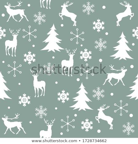 Inverno senza soluzione di continuità texture fiocchi di neve carta design Foto d'archivio © LittleCuckoo