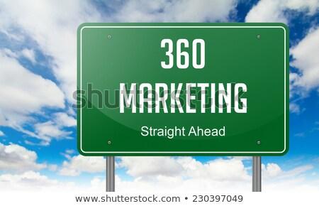 Stock fotó: Marketing · autópálya · útjelző · tábla · út · internet · terv