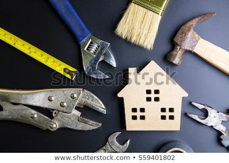 Huis klein tools witte man Stockfoto © fantazista