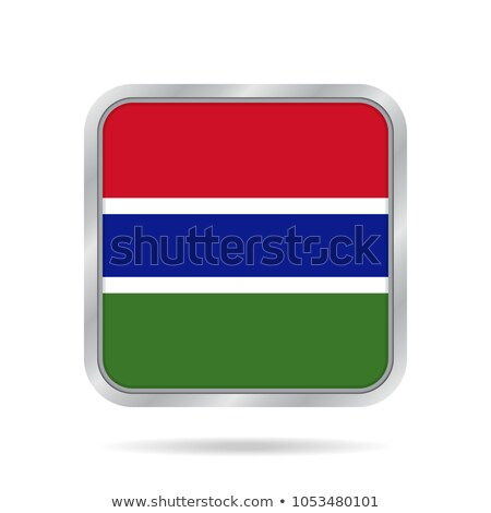 Square metal button with flag of gambia Stock photo © MikhailMishchenko