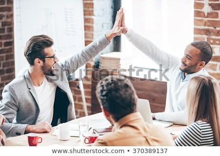 вид сзади бизнесмен жест белый костюм профессиональных Сток-фото © wavebreak_media
