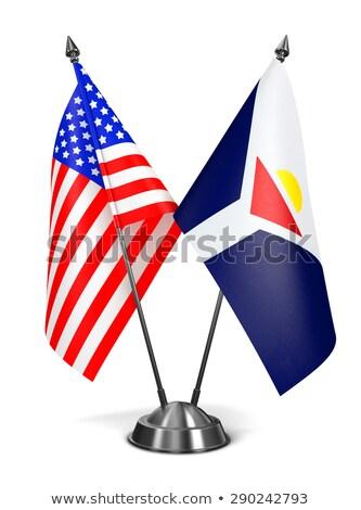 USA and Saint-Martin - Miniature Flags. Stock photo © tashatuvango
