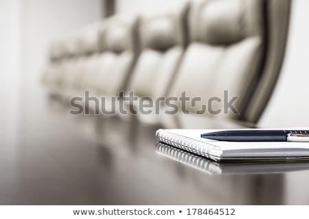 Interview nota agenda pen business boek Stockfoto © fuzzbones0