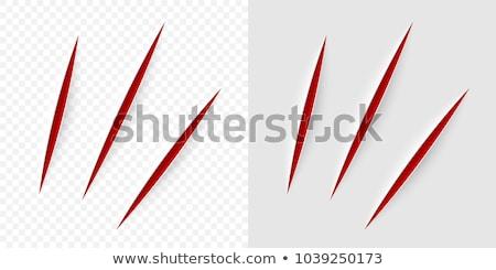 Couteau lame blanche papier résumé fond Photo stock © OleksandrO