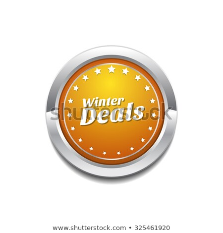 Winter Deals Yellow Vector Icon Button Stock photo © rizwanali3d