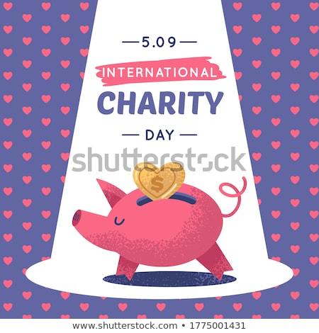 Donate Violet Vector Icon Design Stock photo © rizwanali3d