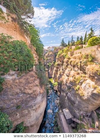 Puente Viejo bridge over gorge in Ronda Stock photo © backyardproductions
