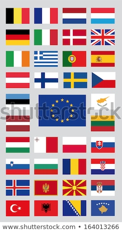 Regno Unito Kosovo bandiere puzzle isolato bianco Foto d'archivio © Istanbul2009