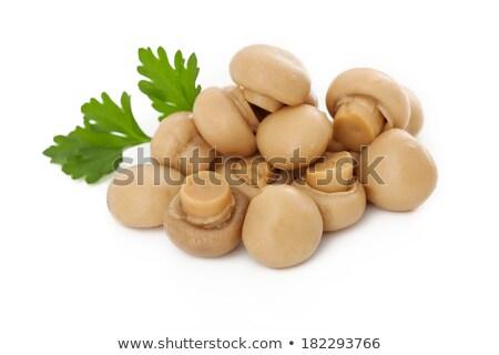 marinated mushrooms isolated on white stock photo © ozaiachin