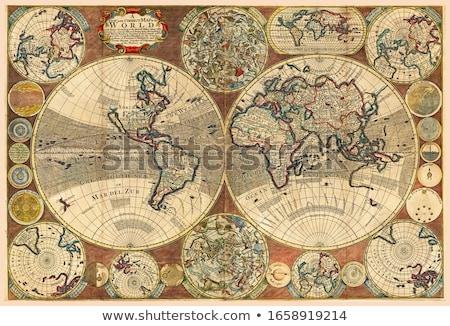 globo · vintage · gravado · ilustração · dicionário - foto stock © morphart