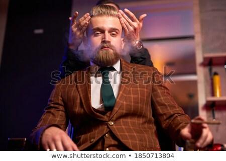 Barna hajú vág cigaretta olló fehér nő Stock fotó © wavebreak_media
