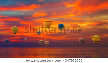 soaring balloons over sea Stock photo © ssuaphoto