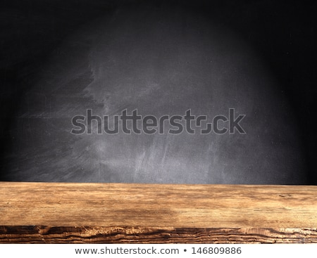 Escolas conselho mesa de madeira relógio madeira fundo Foto stock © fuzzbones0
