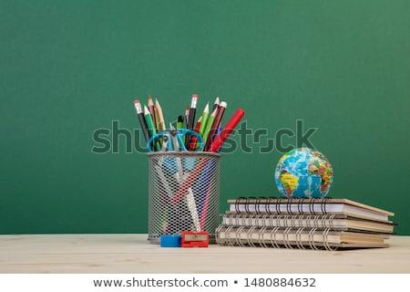 houten · tafel · Blackboard · ontwerp · achtergrond · ruimte · tabel - stockfoto © fuzzbones0