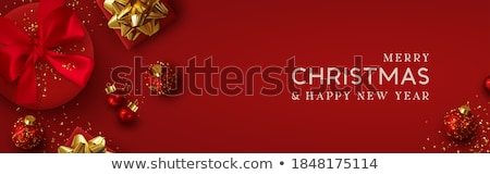 piros · karácsony · díszítések · zseniális · illusztráció · fények - stock fotó © Greeek