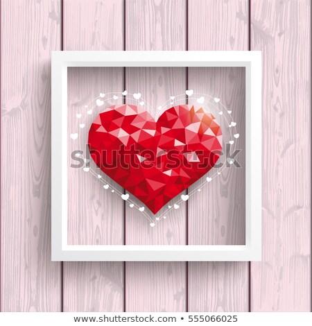 hart · frame · eps · 10 · tulpen - stockfoto © beholdereye