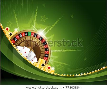 Dorado monedas trajes juego caer Foto stock © day908