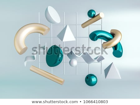 3D Illustration Abstract Turquoise Background Stock photo © brux