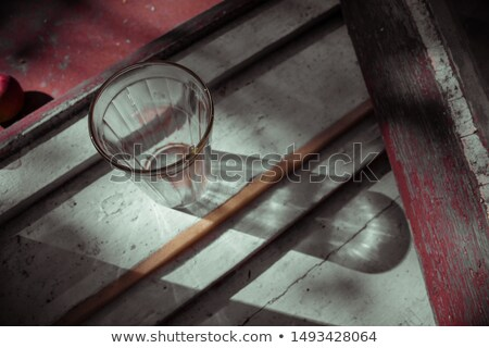 Empty vintage faceted glass Stock photo © Cipariss