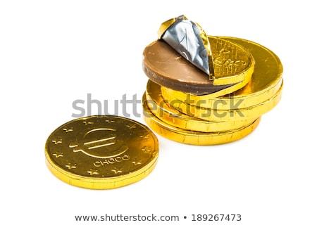 Leite chocolate moedas ouro coberto comida Foto stock © Digifoodstock