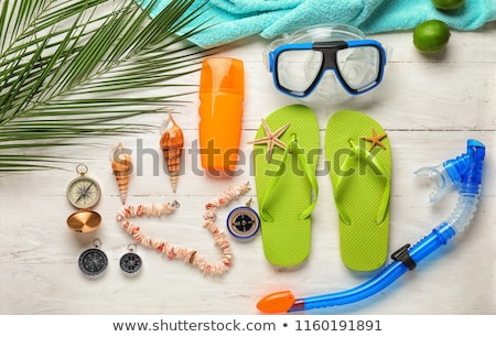 Stock photo: Snorkel items