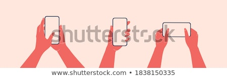 Weiblichen Finger schieben Handy Touchscreen Stock foto © stevanovicigor