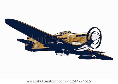 WWII Warbird Airplane Illustration Stock photo © jeff_hobrath