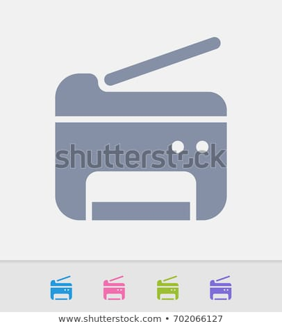 Printers - Granite Icons stock photo © micromaniac