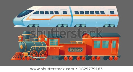 modern train at western town stock photo © bluering