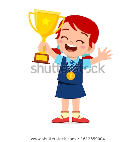 девушки трофей медаль весело портрет Сток-фото © IS2