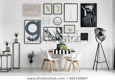 Pictures on wall Stock photo © carenas1