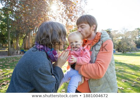 Couple kissing,  people clapping hands Stock photo © IS2