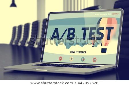 A/B Testing Concept on Laptop Screen. Stock photo © tashatuvango