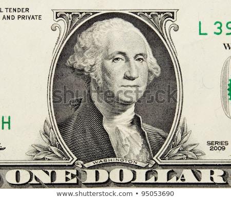 Closeup shot of one dollar bills Stock photo © ivelin