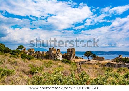 Château anciens Grèce vue annonce bâtiment Photo stock © ankarb