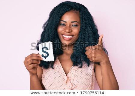 afrikai · nő · dollárjel · kéz · üzlet · öltöny - stock fotó © studioworkstock
